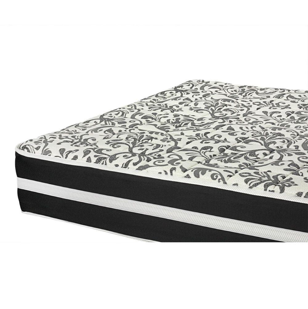 Cama Box Com Baú Queen + Colchão De Molas - Anjos - Black Graphite 158cm