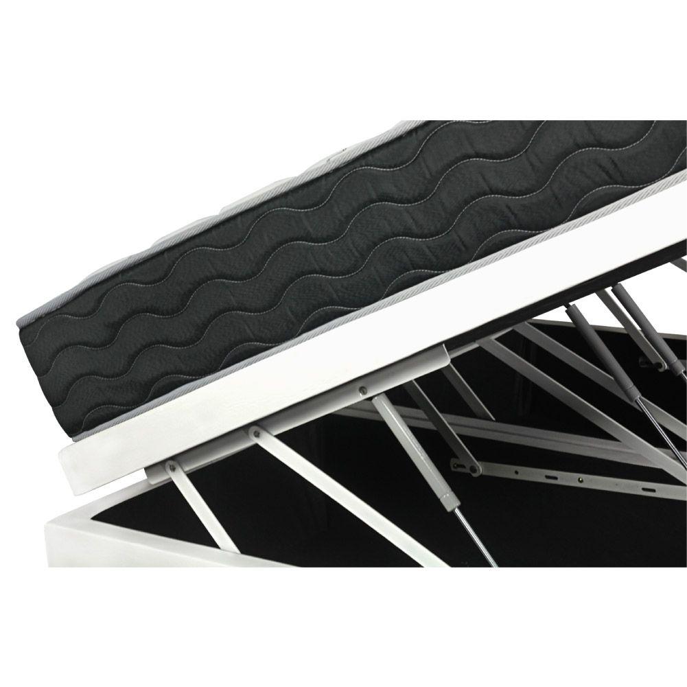 Cama Box Com Baú Queen + Colchão De Molas - Probel - Prodormir Sleep Black 158cm