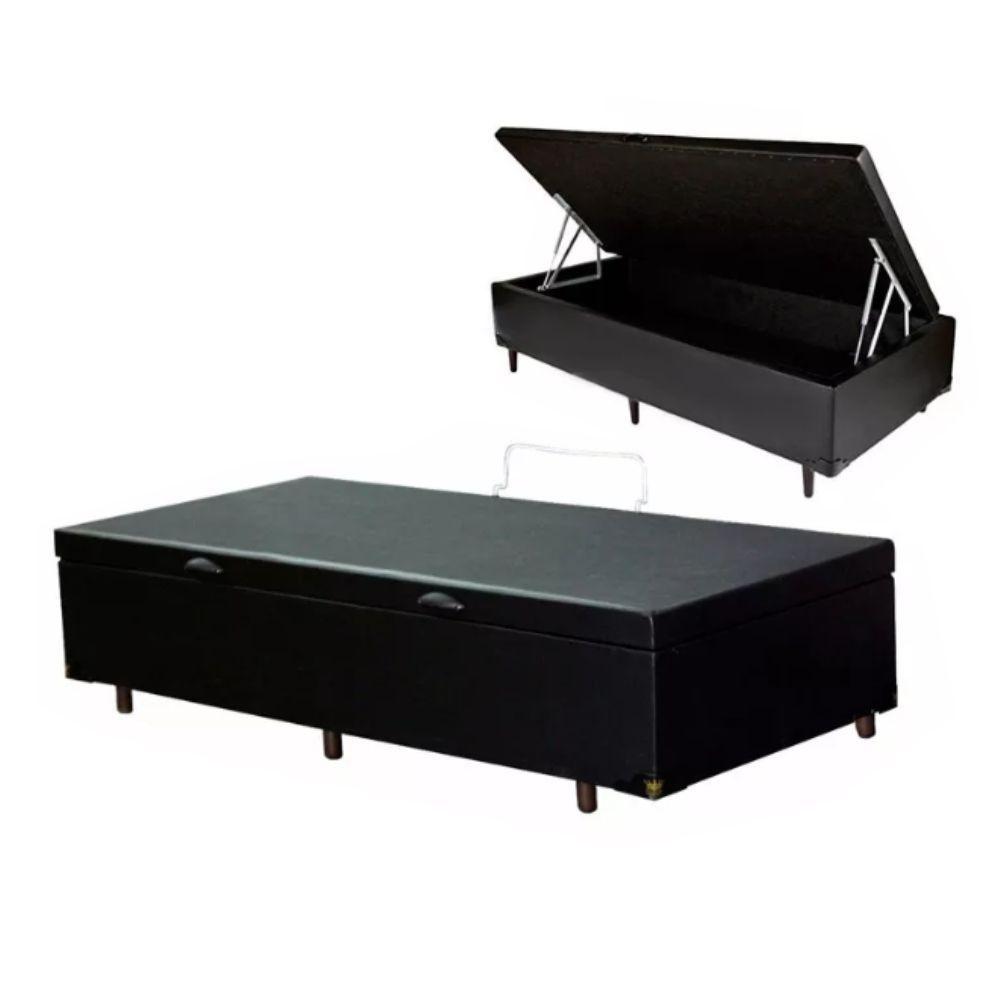 Cama Box Com Baú Solteiro 188 x 78cm