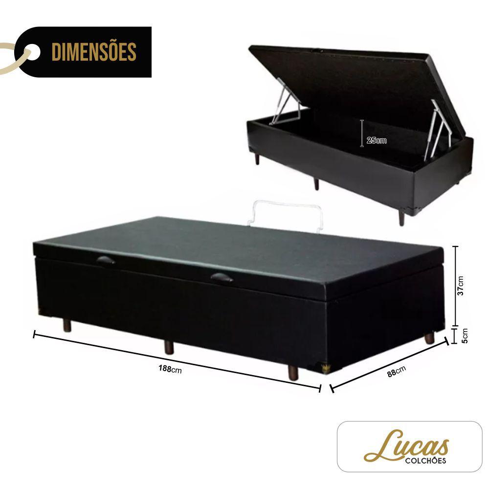 Cama Box Com Baú Solteiro 188 x 88cm