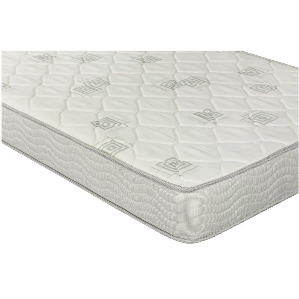 Cama Box com Baú Solteiro Branca + Colchão de Espuma D23 - Ortobom - Light D23 78x188x56cm