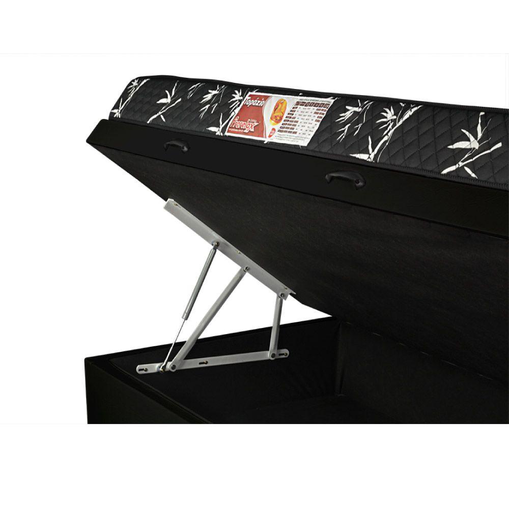 Cama Box Com Baú Solteiro + Colchão De Espuma D23 - Prorelax - Topázio 88cm