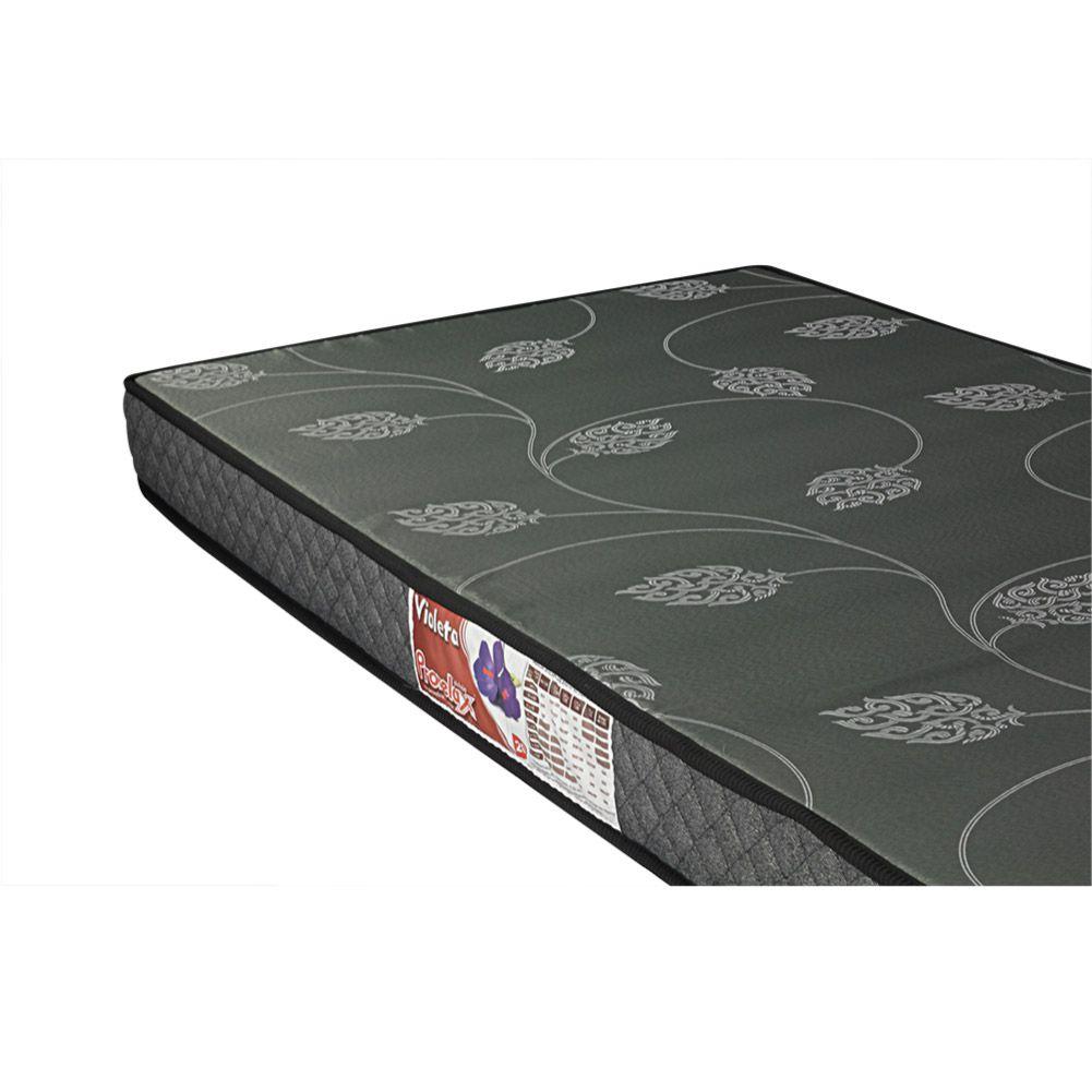 Cama Box Com Baú Solteiro + Colchão De Espuma D20 - Prorelax - Violeta 78cm