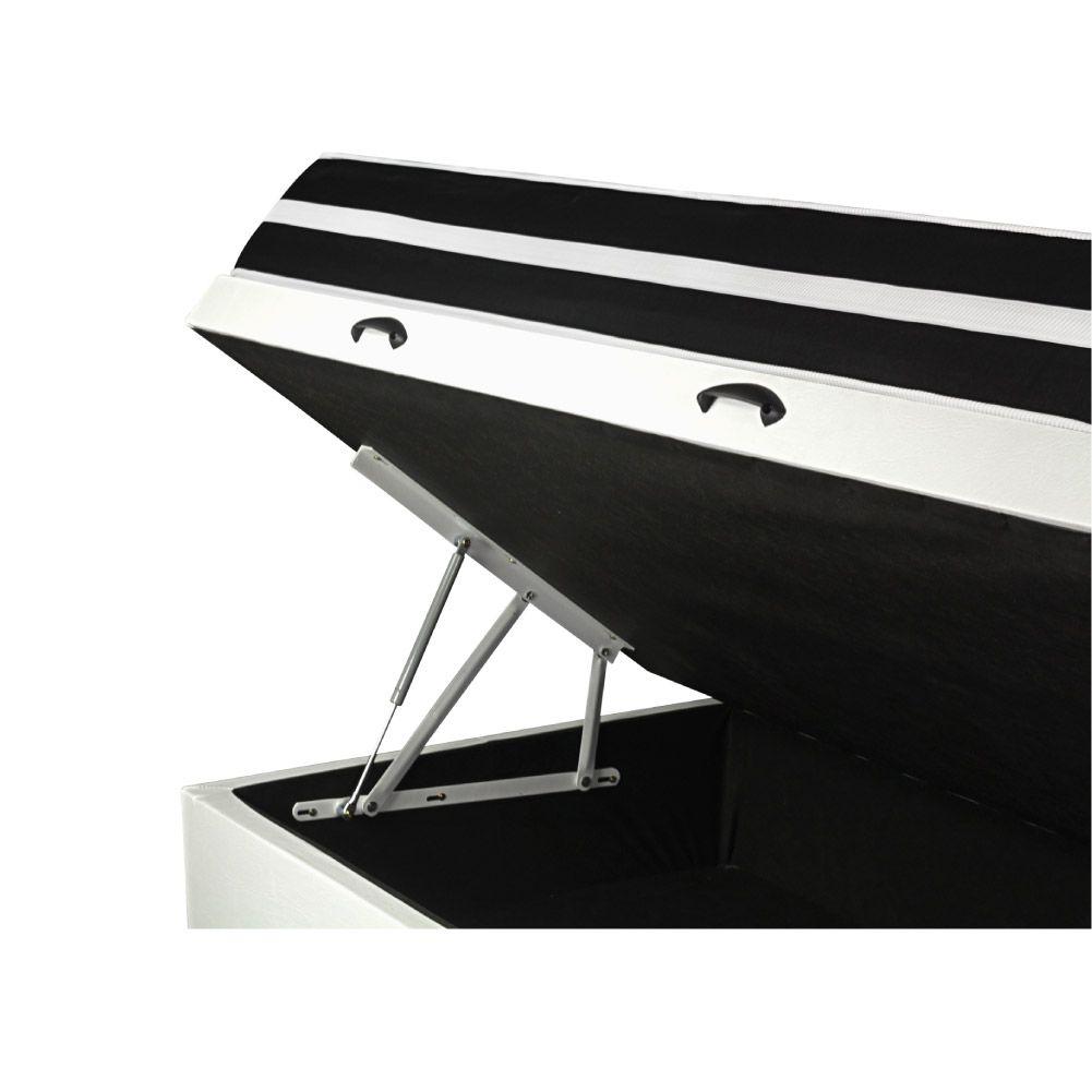Cama Box Com Baú Solteiro + Colchão De Molas - Anjos - Black Graphite 88cm