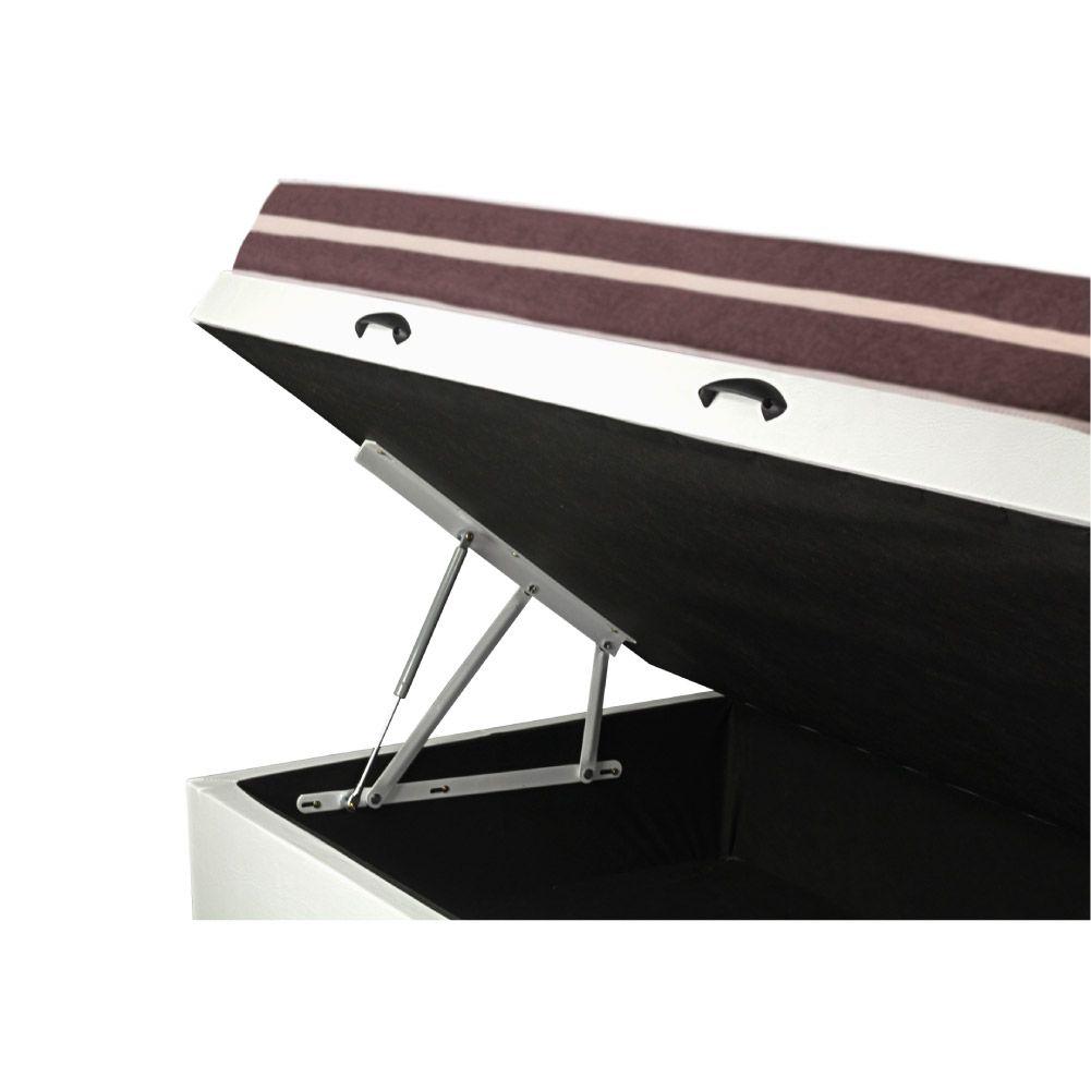 Cama Box Com Baú  Solteiro + Colchão De Molas - Anjos - Classic Superlastic 88cm