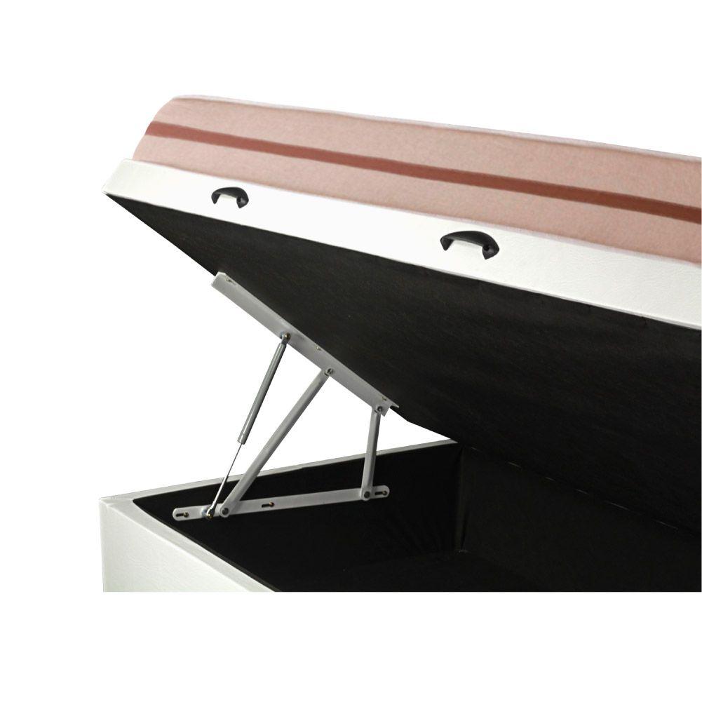 Cama Box Com Baú Solteiro + Colchão De Molas Ensacadas - Anjos - Classic Mola Ensacada 22x188x88cm