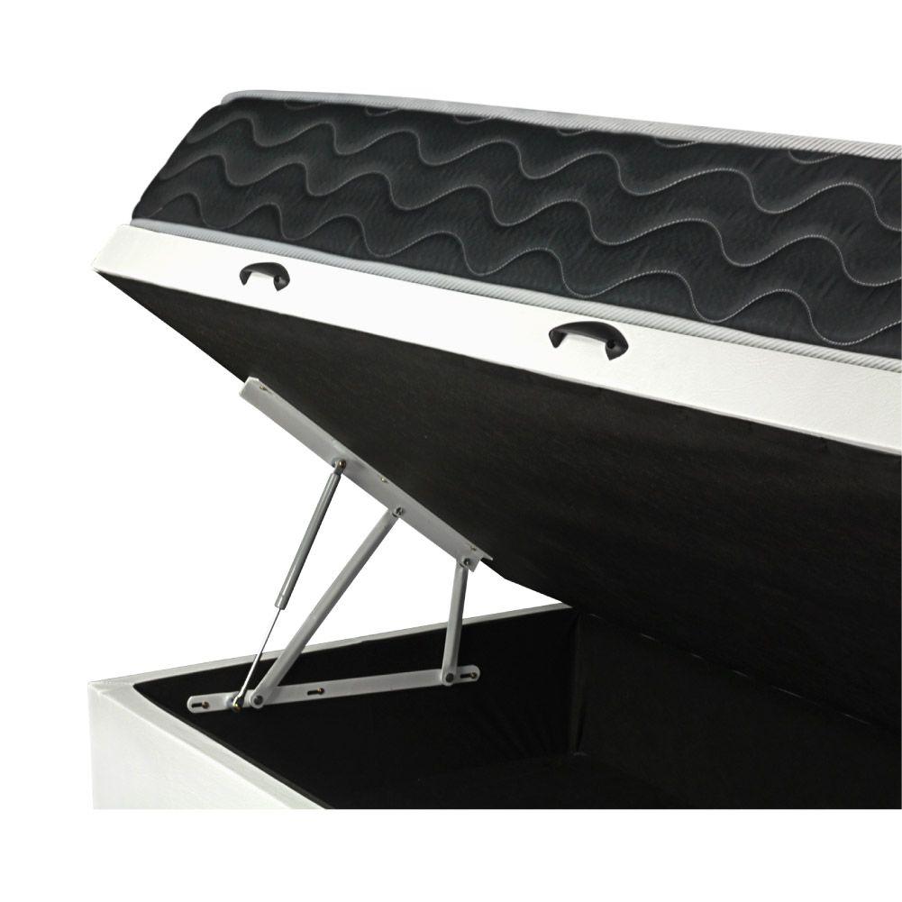 Cama Box Com Baú Solteiro + Colchão De Molas - Probel - Sleep Black 88cm