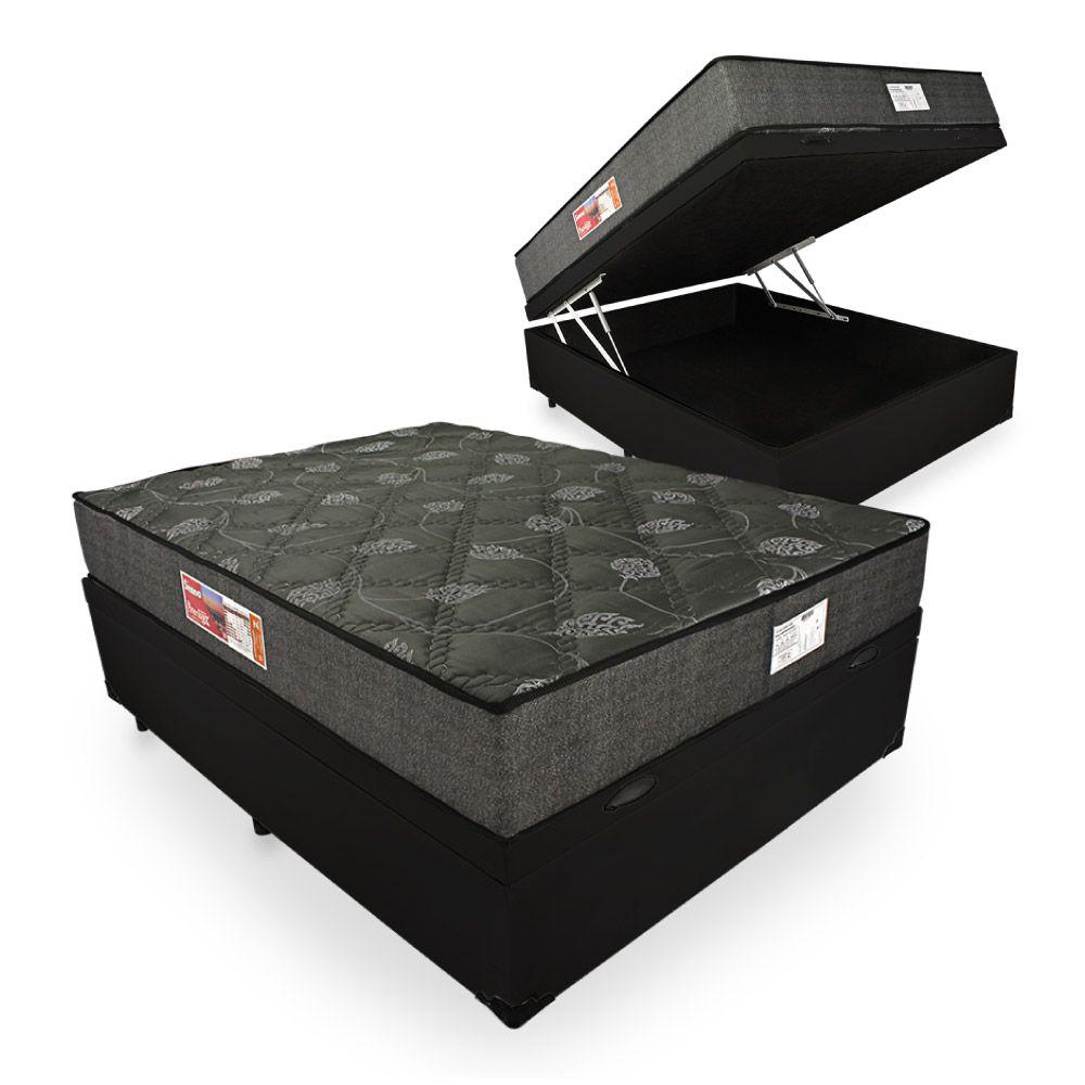Cama Box Com Baú Viúva + Colchão De Espuma D23 - Prorelax - Sienna 18x188x128cm