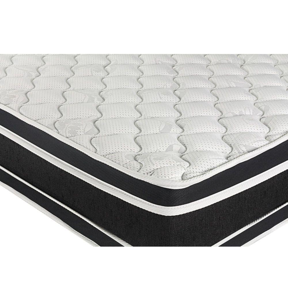 Cama Box Com Baú Viúva + Colchão De Espuma D33 - Castor - Black White Double Face 128cm