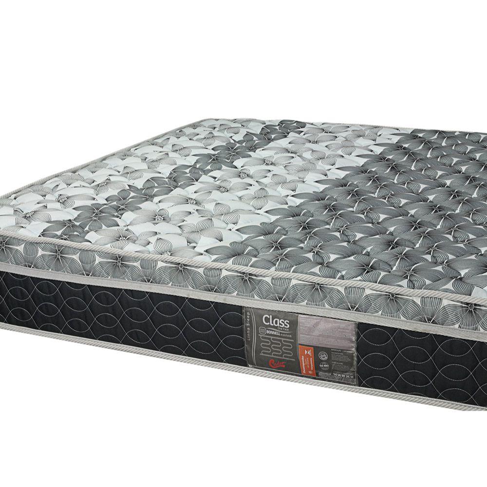 Cama Box Com Baú Viúva + Colchão De Molas - Castor - Class Bonnel One Face 128cm