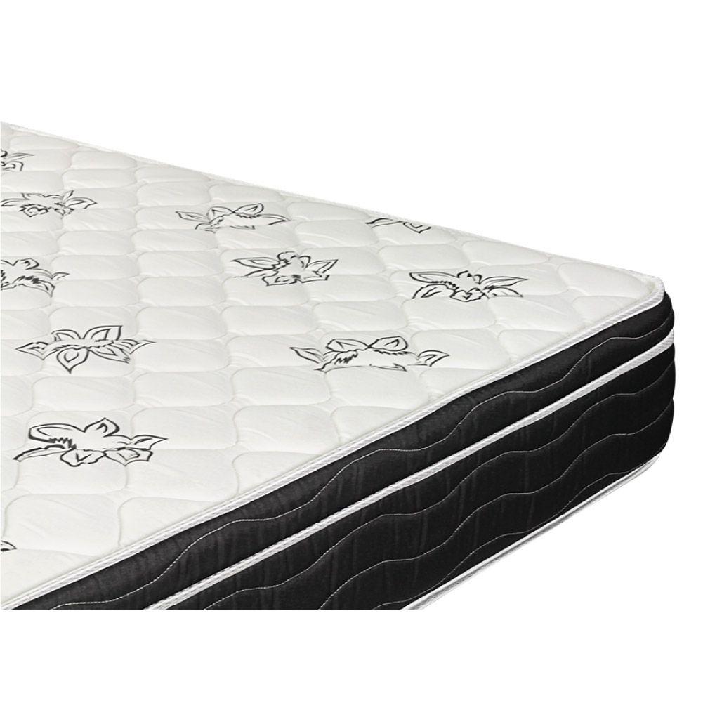 Cama Box Com Baú Viúva + Colchão De Molas - Ortobom - Physical Nanolastic 128cm