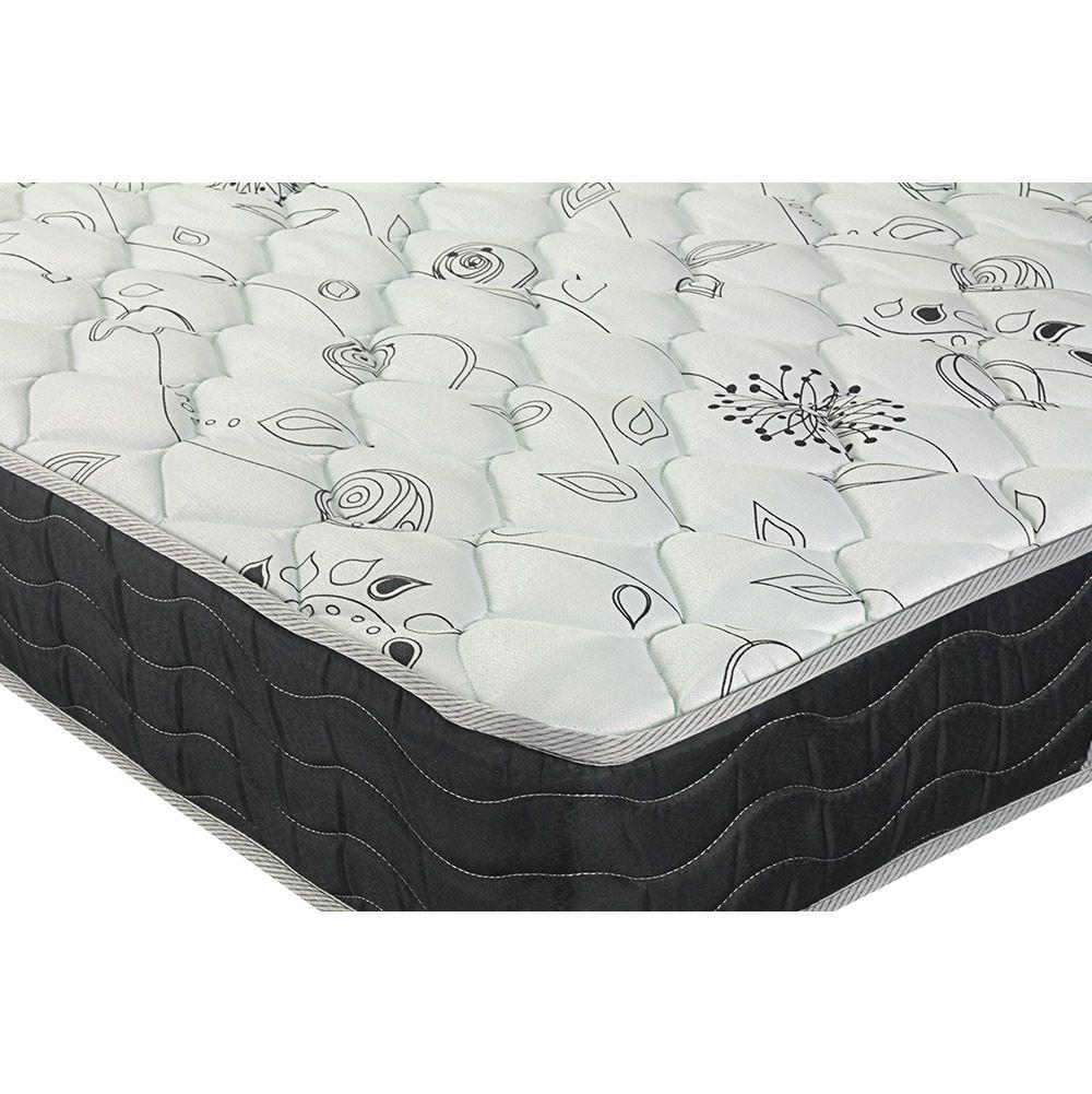Cama Box Com Baú Viúva + Colchão De Molas - Probel - Prodormir Sleep Black 128cm