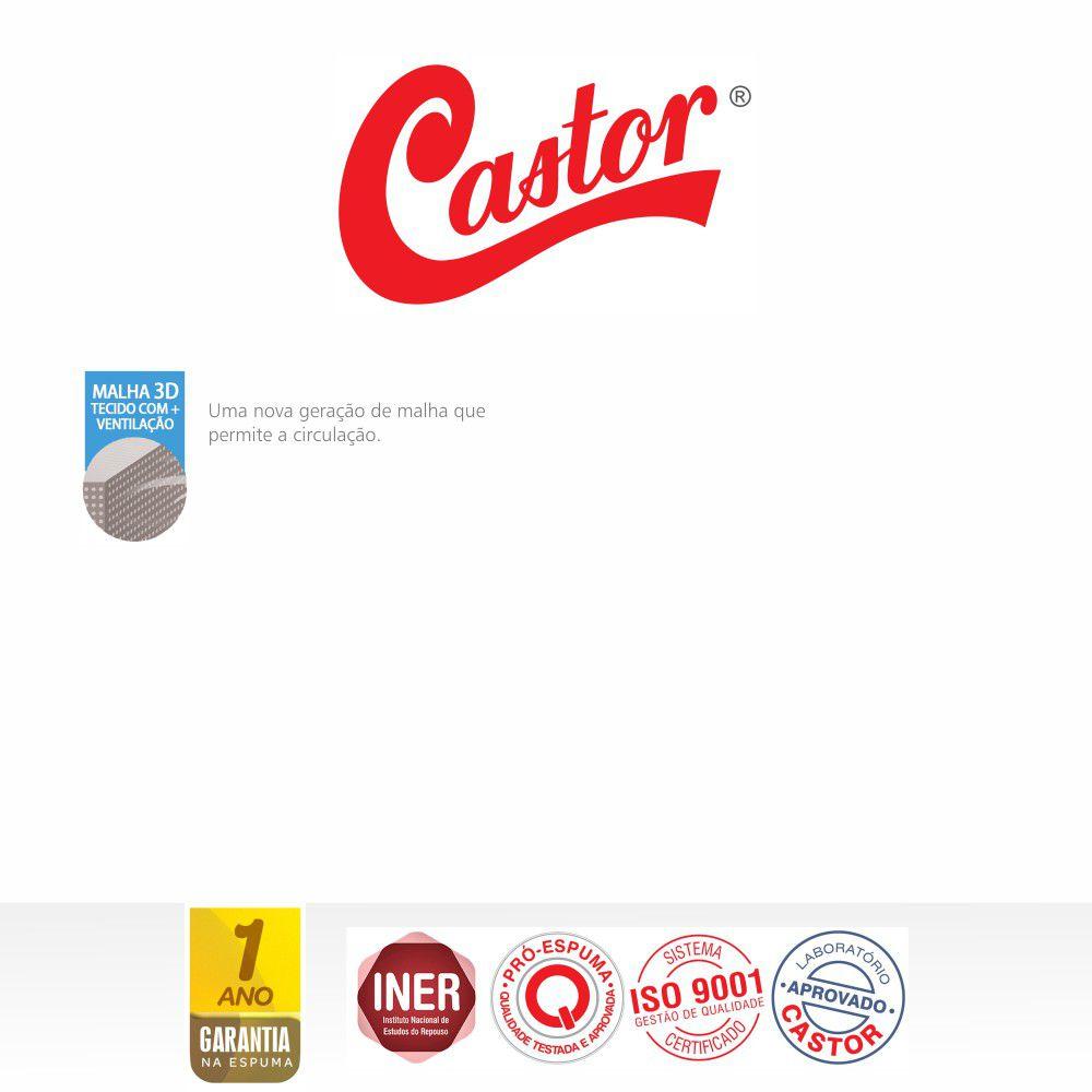 Cama Box King + Colchão De Espuma D33 - Castor - Black & White One Face 63x193x203cm