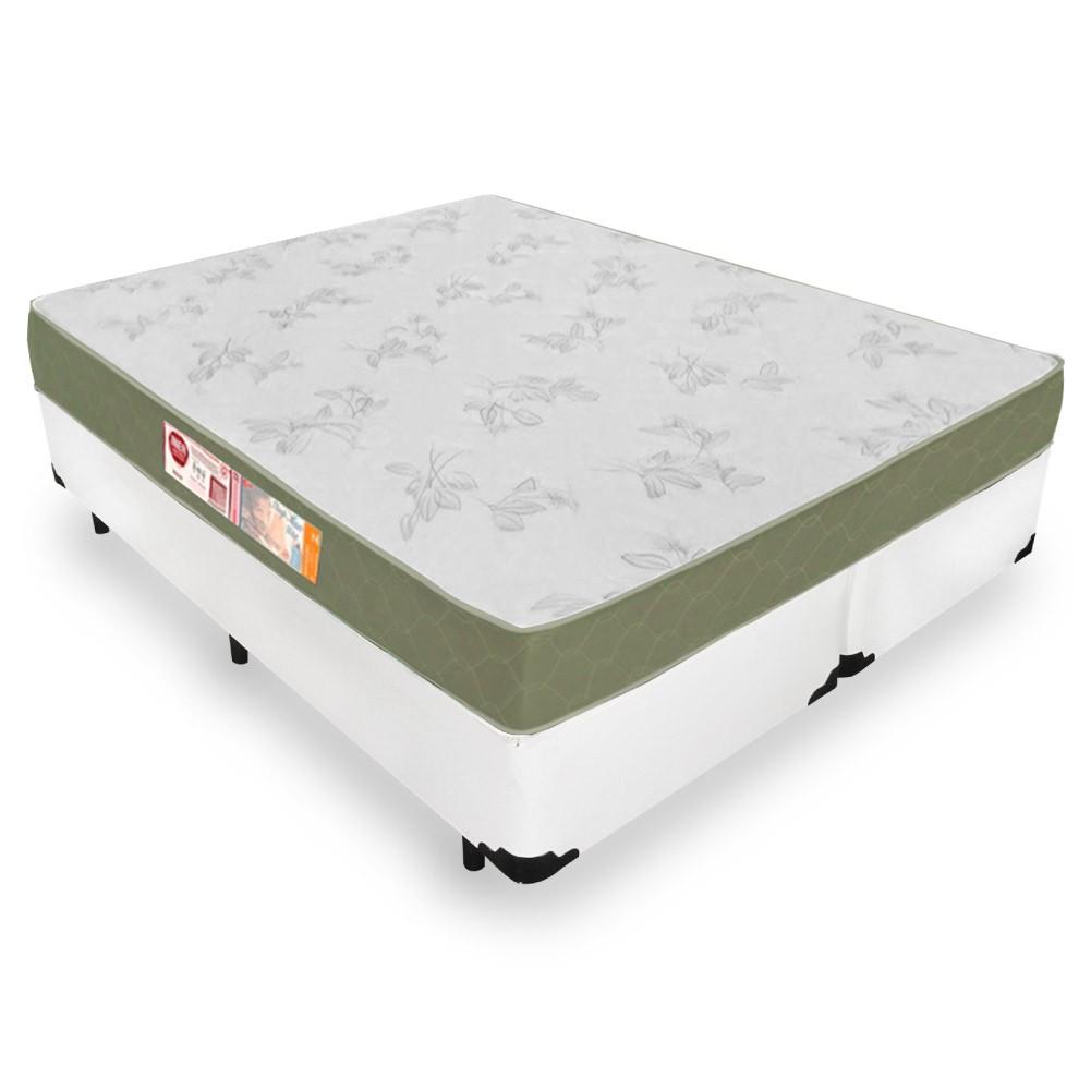 Cama Box King + Colchão De Espuma D33 - Castor - Sleep Max 193cm