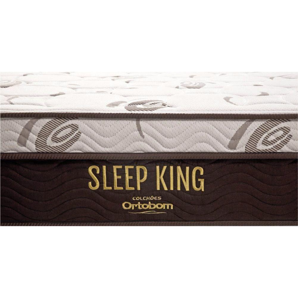 Cama Box King + Colchão De Molas Ensacadas - Ortobom - Sleep King 193cm