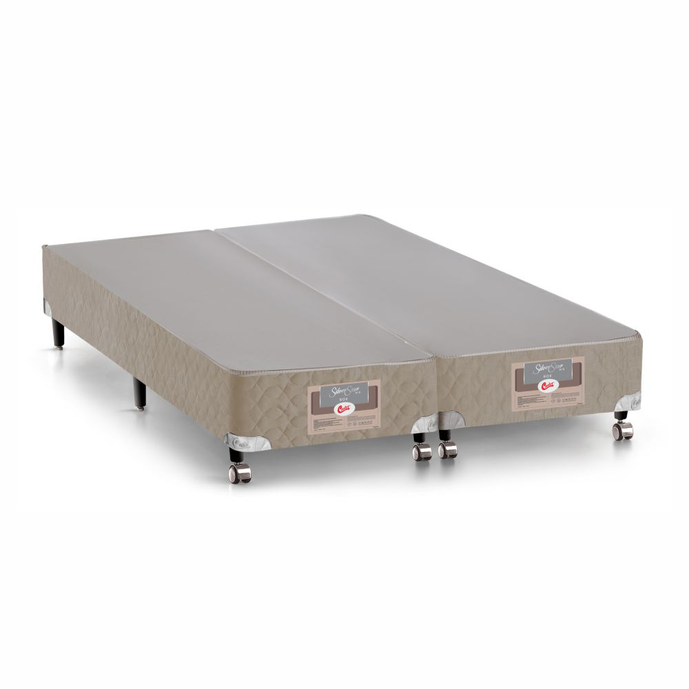Cama Box Queen + Colchão De Molas Ensacadas - Castor - Silver Star Air 158cm