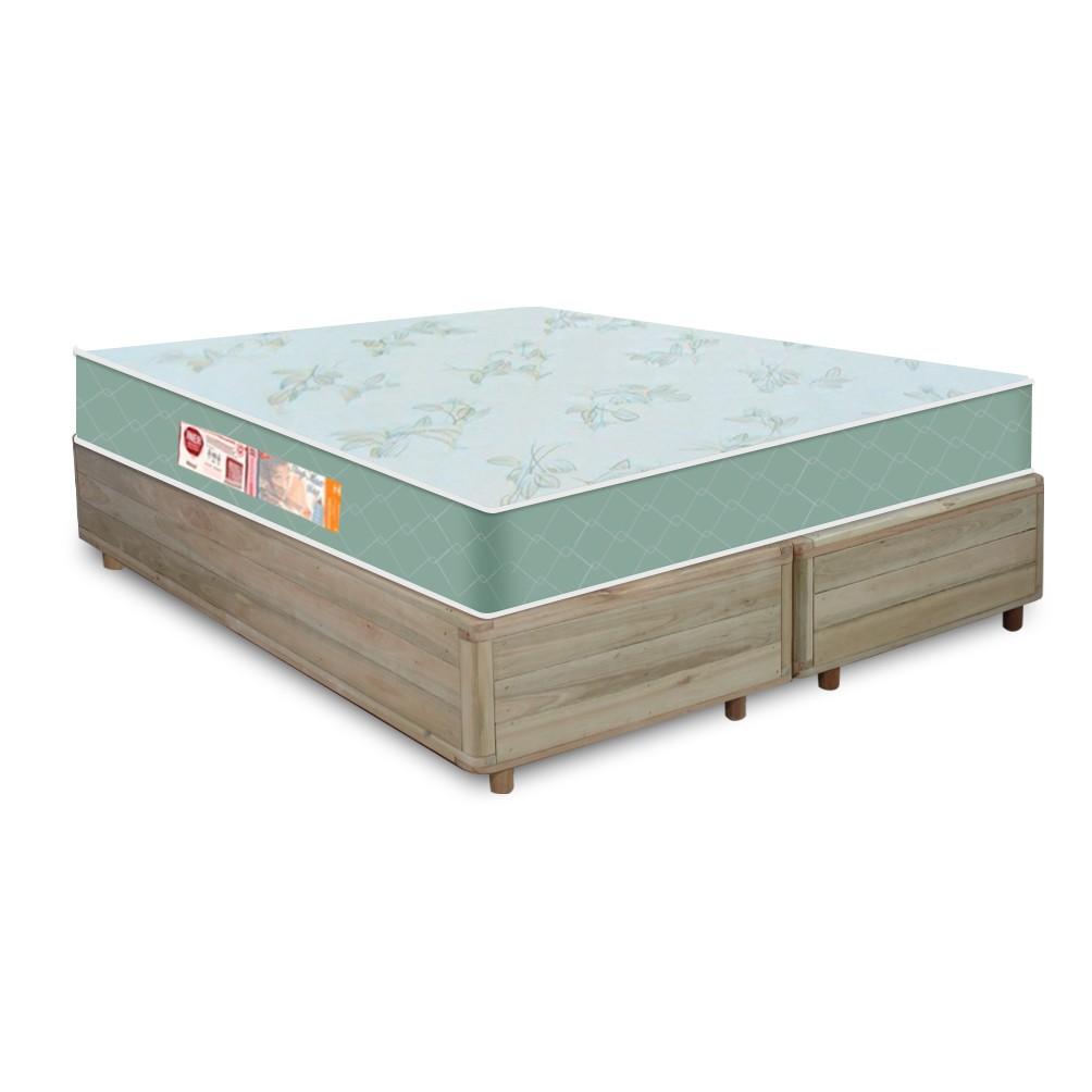 Cama Box Queen Rústica + Colchão De Espuma D33 - Castor - Sleep Max 158x198x55cm