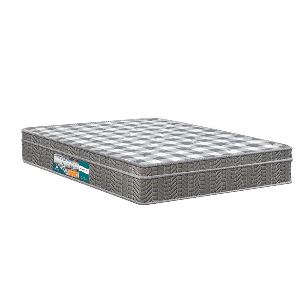 Cama Box Queen Rústica + Colchão Espuma D33 - Lucas Home - Confort D33 158x198x63cm