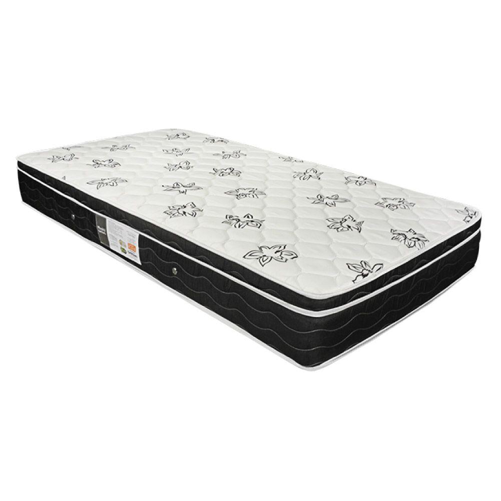Cama Box Solteiro Cinza + Colchão De Molas Ensacadas - Ortobom - Physical Nanolastic - 88x188x58cm