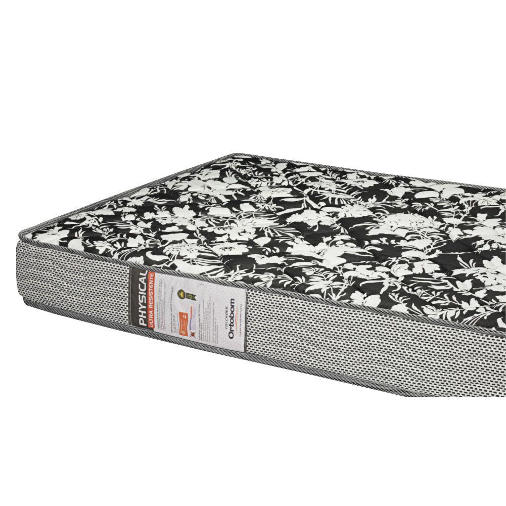 Cama Box Solteiro + Colchão De Espuma D26 - Ortobom - Physical Ultra Resistente 88cm