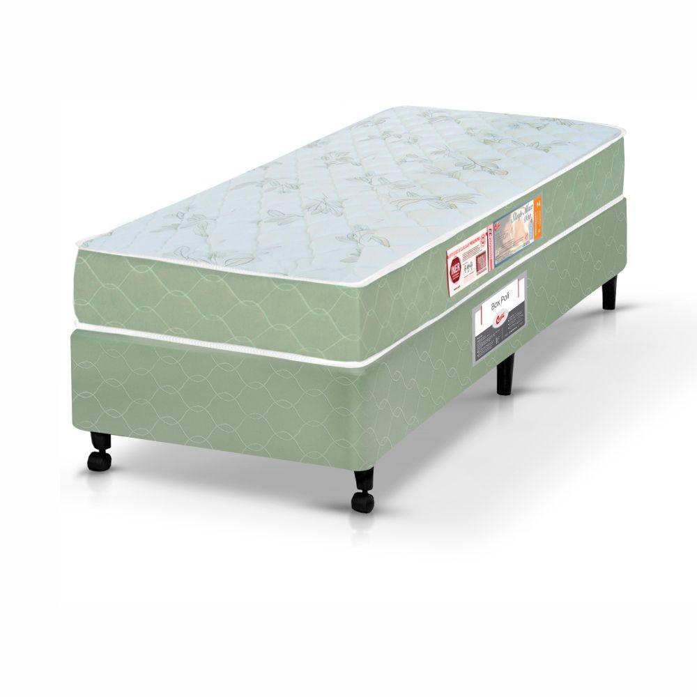 Cama Box Solteiro + Colchão De Espuma D33 - Castor - Sleep Max 55x88x188cm
