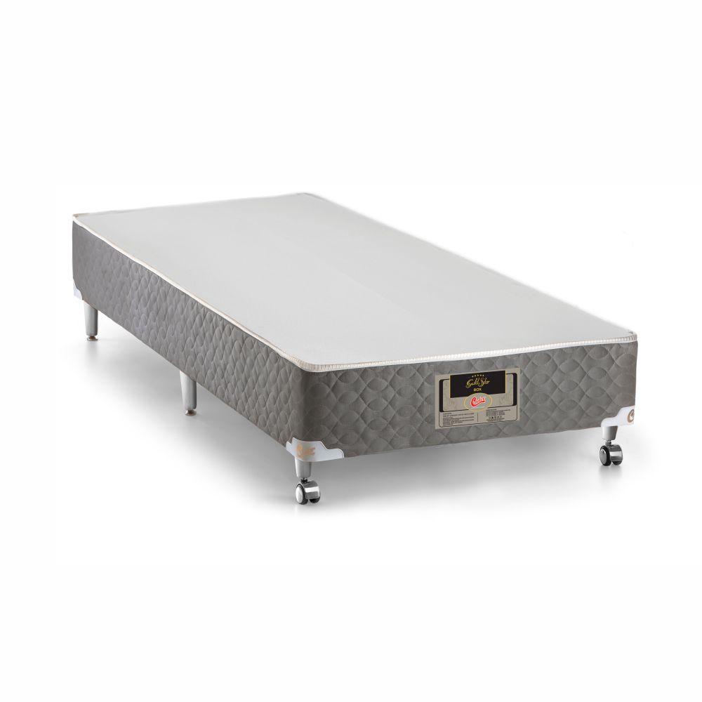 Cama Box Solteiro + Colchão De Molas Ensacadas - Castor - Light Stress Oxygen Plush One Face 88cm