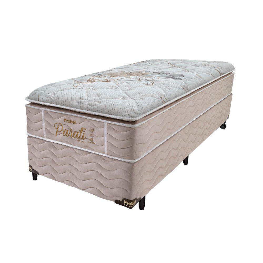 Cama Box Solteiro + Colchão de Molas - Probel - Parati Pillow Super 70x188x88cm