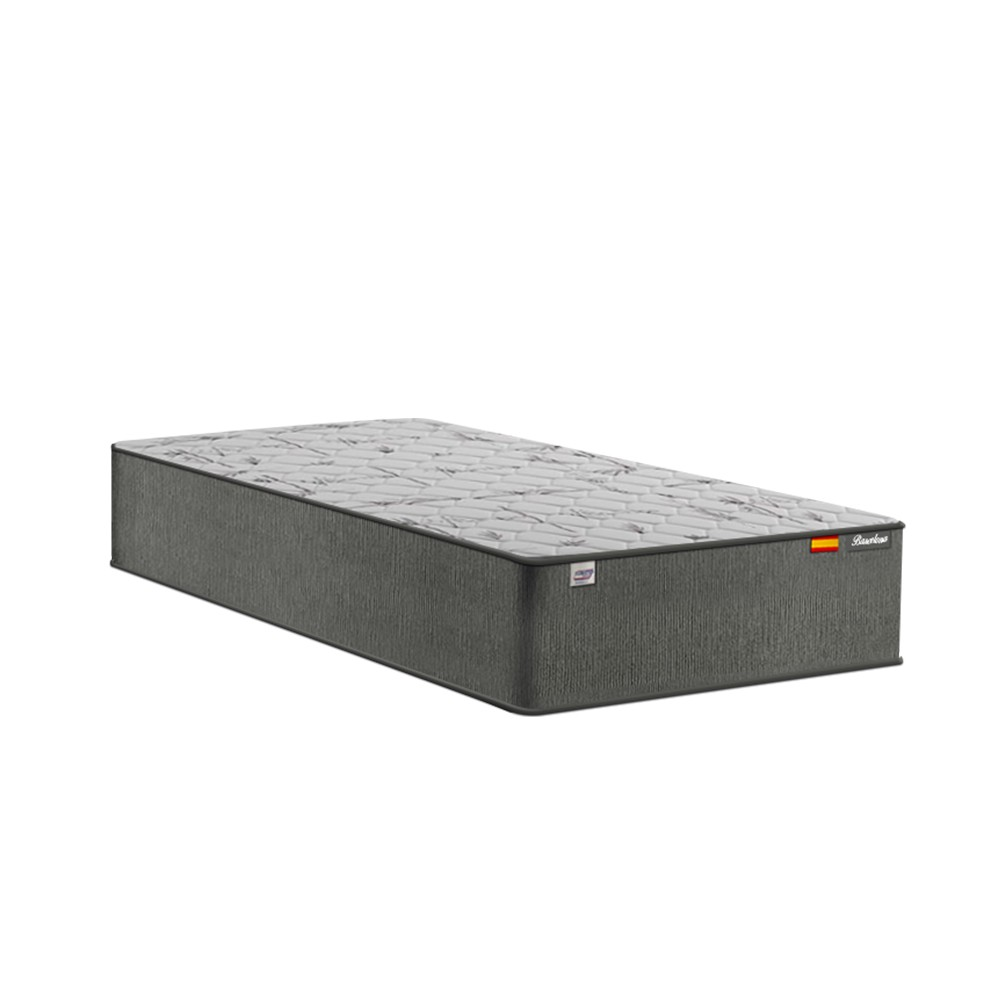 Cama Box Solteiro Marrom + Colchão de Molas Ensacadas - Plumatex - Barcelona - 88x188x67cm