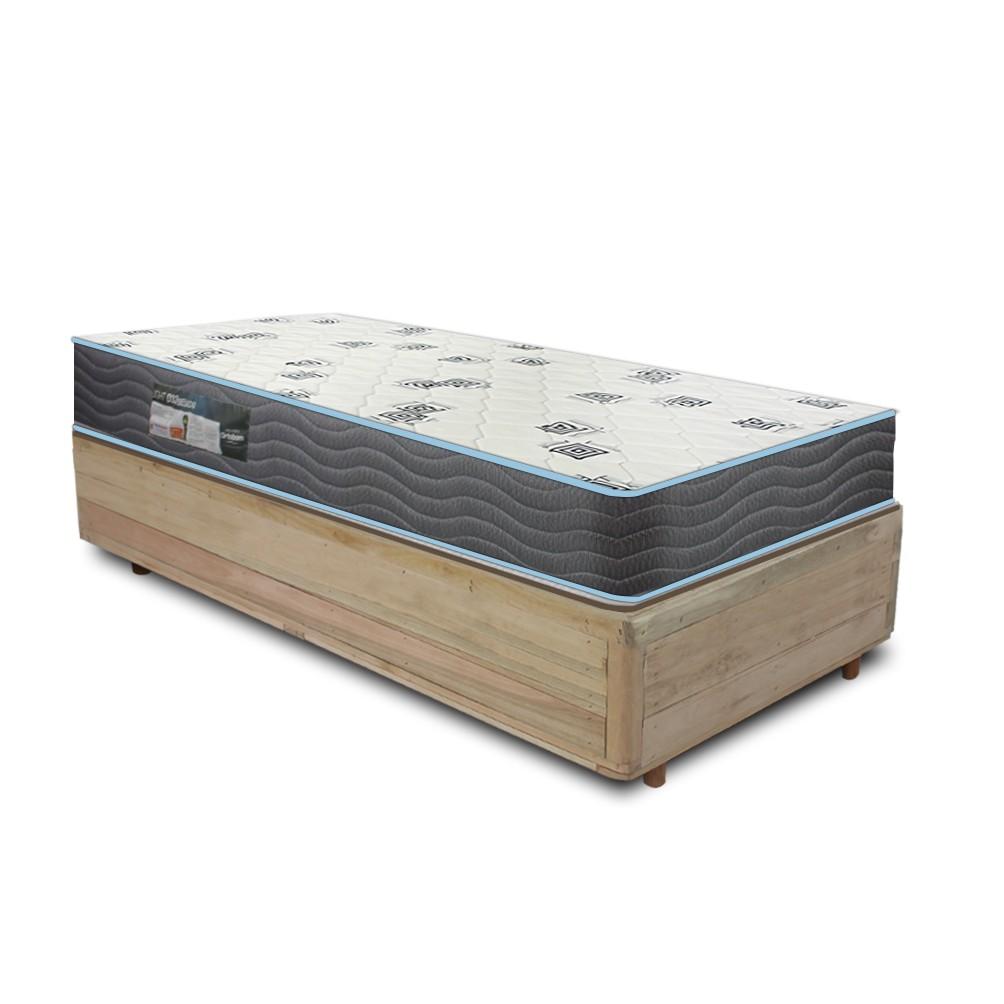 Cama Box Solteiro Rústica + Colchão De Espuma D33 - Ortobom - Light 88x188x51cm