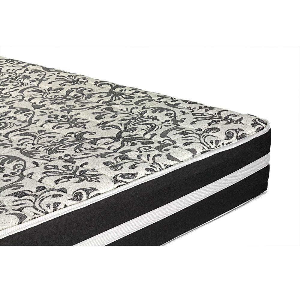 Cama Box Viúva + Colchão De Molas - Anjos - Black Graphite 128cm