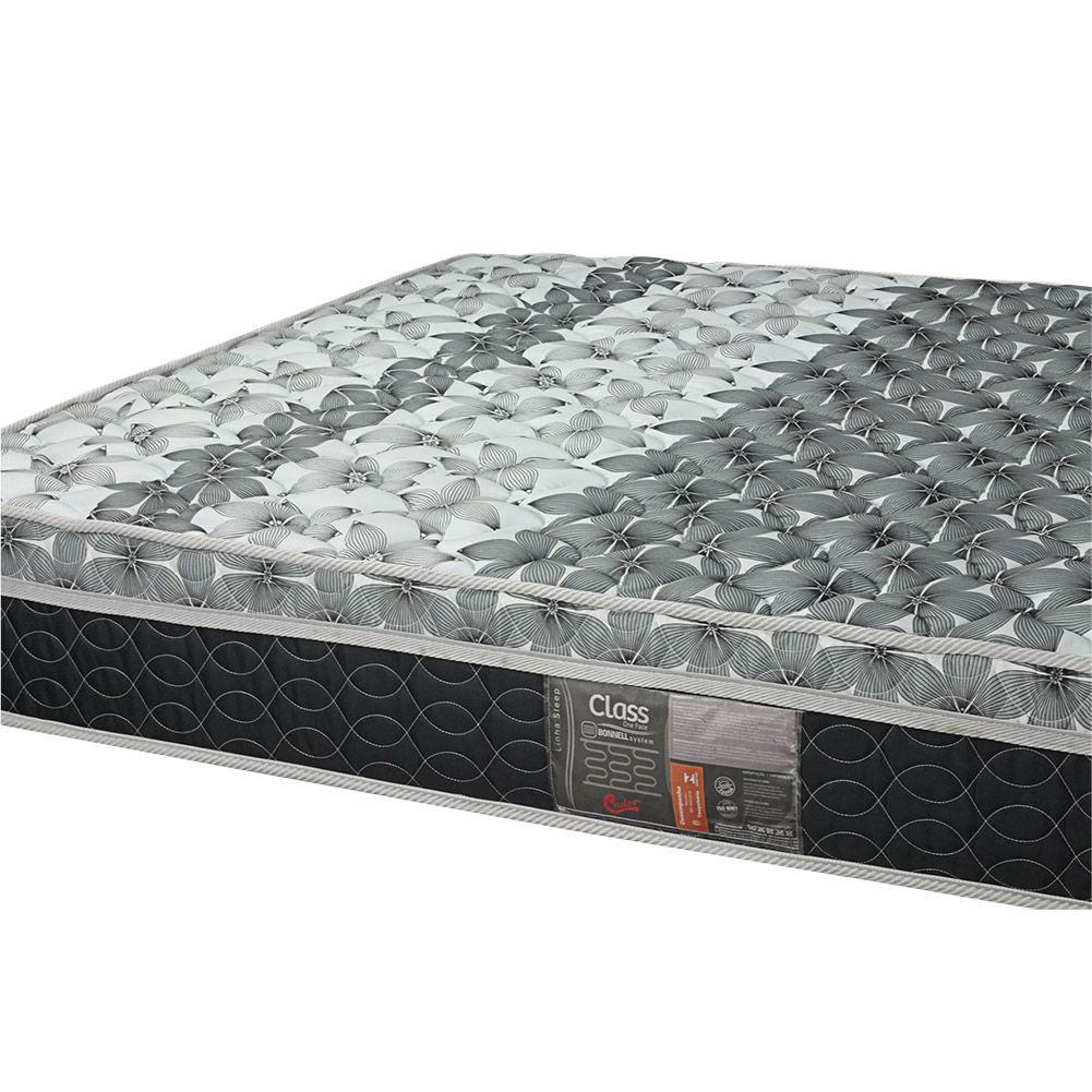 Cama Box Viúva + Colchão De Molas - Castor - Class Bonnel One Face 128cm