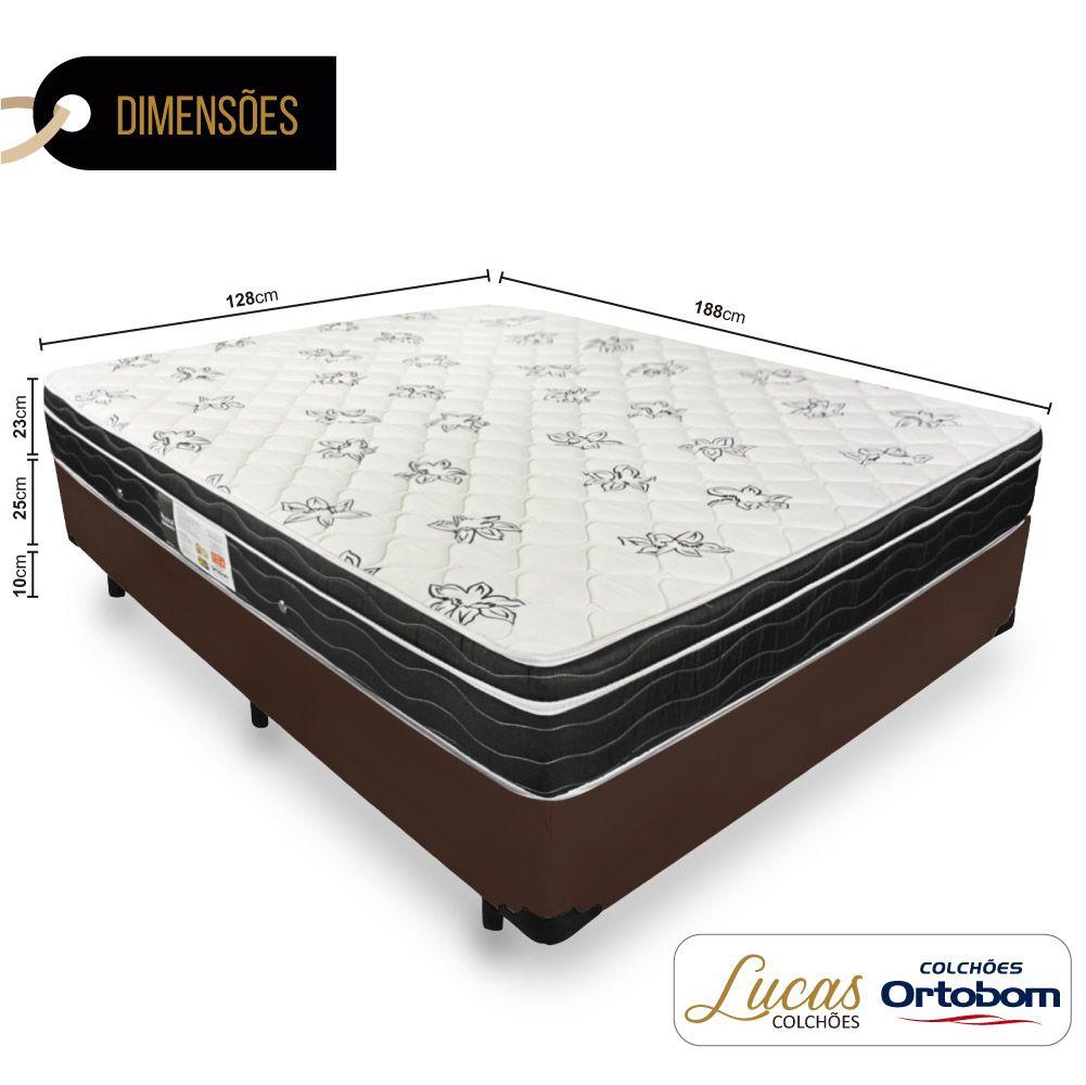 Cama Box Viúva + Colchão De Molas - Ortobom - Physical Nanolastic 128cm