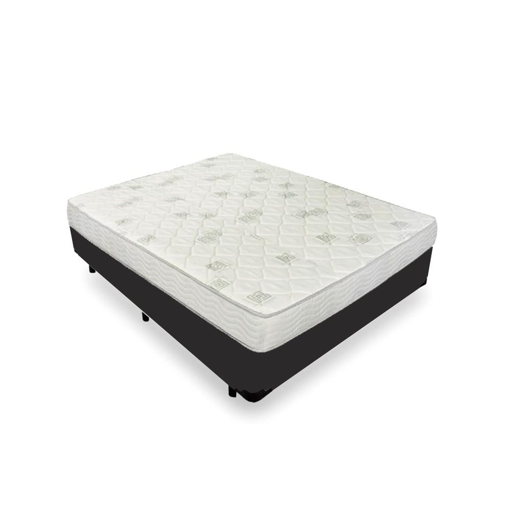 Cama Box Viúva Preta + Colchão de Espuma D23 - Ortobom - Light D23 128x188x49cm