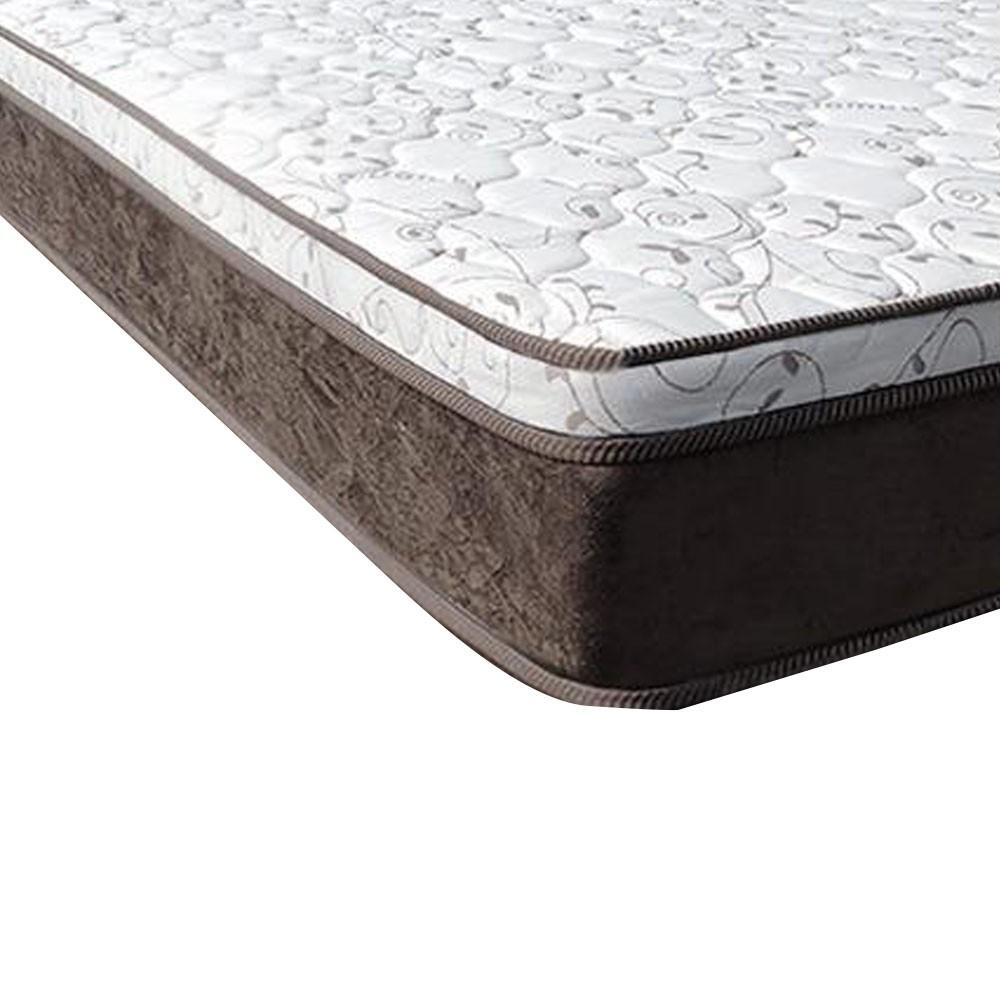 Cama Box Viúva Rústica + Colchão de Molas Ensacadas - Comfort Prime - Aspen - 128x188x67cm