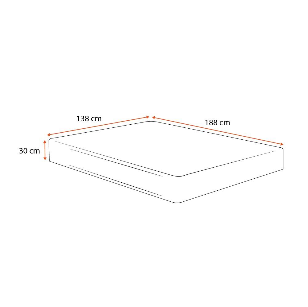 Colchão de Espuma D33 Extra Firme Casal - Comfort Prime - Comfort Maxx - 138x188x30cm