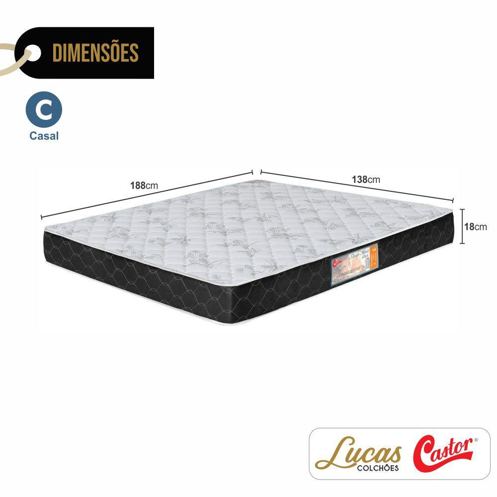 Colchão De Espuma D23 Casal - Castor - Sleep Max 18x138x188cm