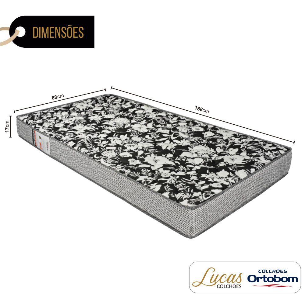 Colchão De Espuma D26 Solteiro - Ortobom - Physical Ultra Resistente 88cm