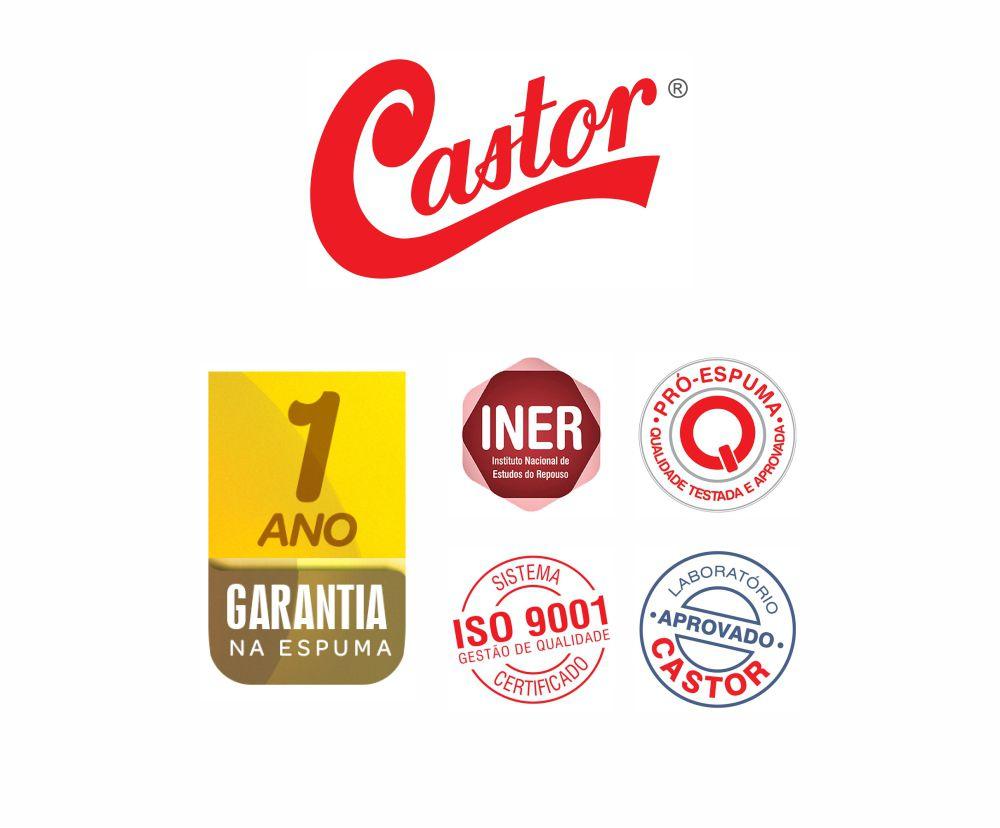 Colchão De Espuma D28 Casal - Castor - Sleep Max 25x138x188cm