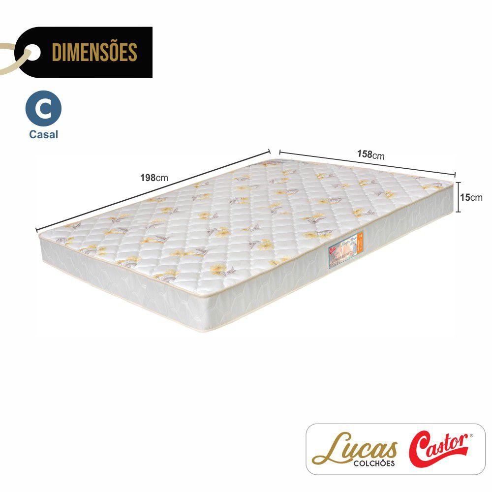 Colchão De Espuma D28 Casal - Castor - Sleep Max 15x138x188cm