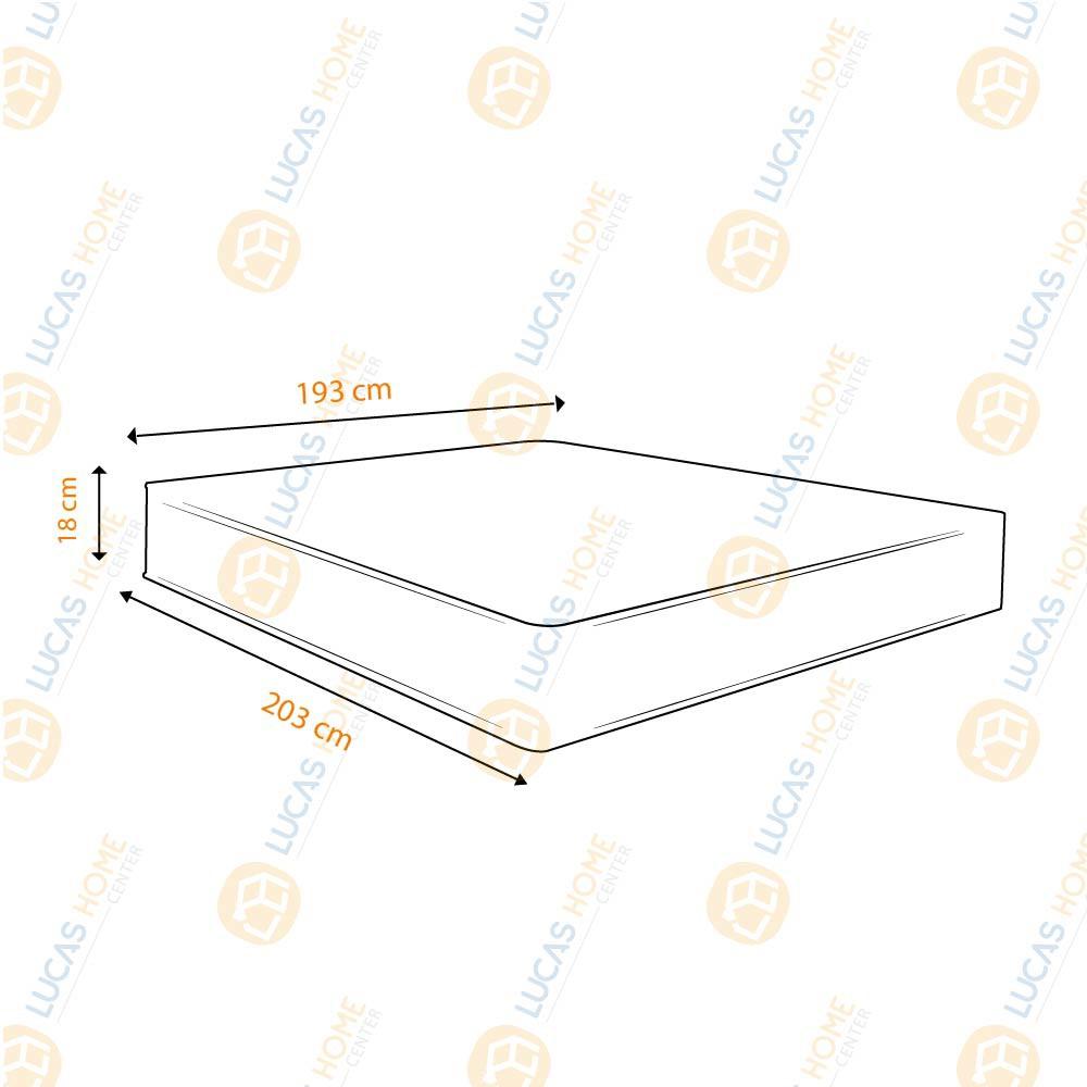 Colchão De Espuma D33 King - Castor - Sleep Max 193cm