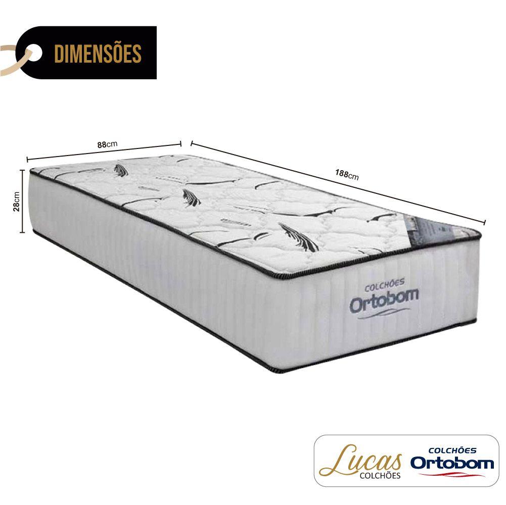 Colchão De Espuma D33 Solteiro - Ortobom - Highfoam 28x188x88