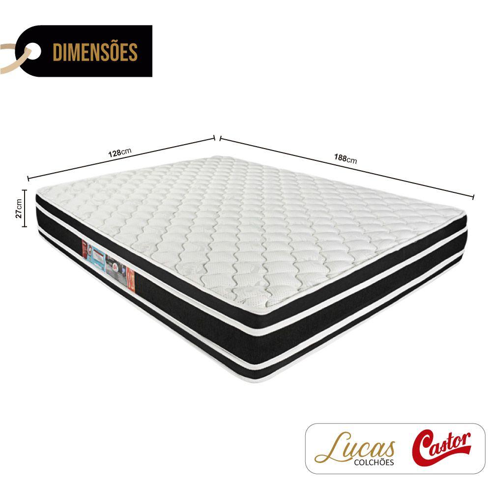 Colchão De Espuma D33 Viúva - Castor - Black & White Double Face 128cm