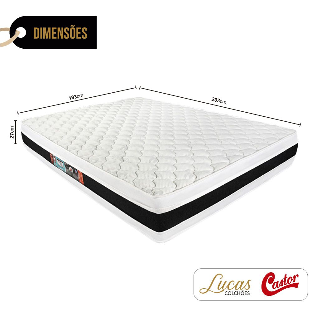Colchão De Espuma D45 King - Castor - Black & White Double Face 193cm