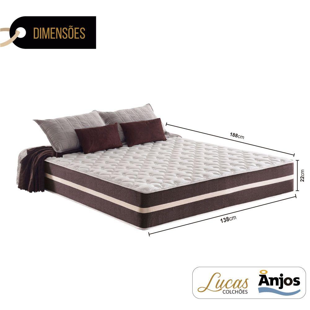 Colchão de Molas Casal - Anjos - Classic Superlastic 22x188x138cm