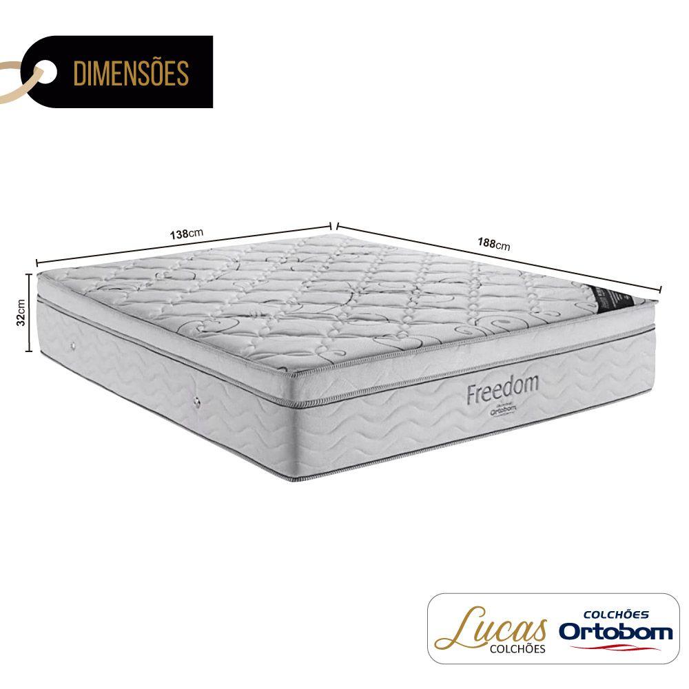 Colchão De Molas Ensacadas Casal - Ortobom - Freedom 138cm