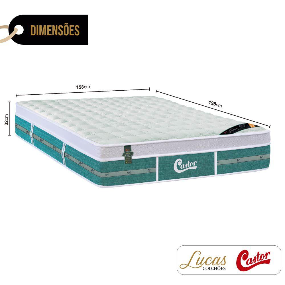 Colchão De Molas Ensacadas Queen - Castor - Green Unique 158cm