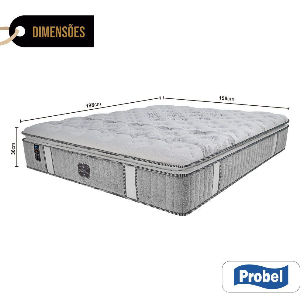 Colchão De Molas Ensacadas Queen - Probel - Sensory Prime Látex Pillow Super 36x198x158