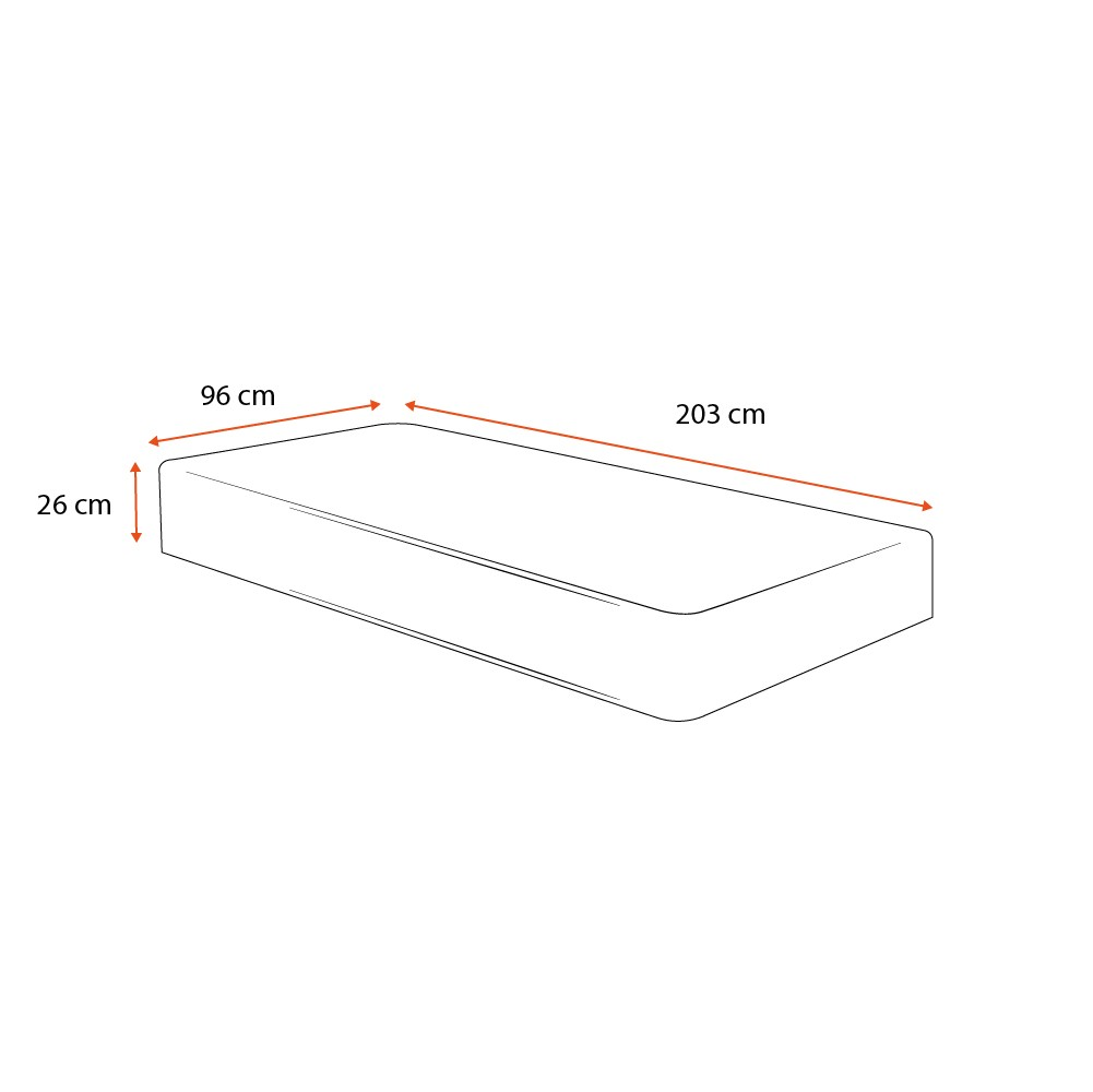 Colchão de Molas Ensacadas Solteiro King - Anjos - Classic - 96x203x26cm