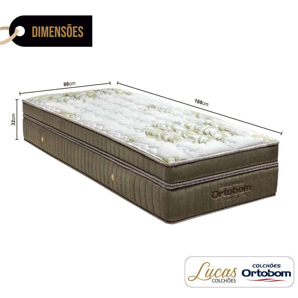 Colchão De Molas Ensacadas Solteiro - Ortobom - Gold Ultragel 32x188x88