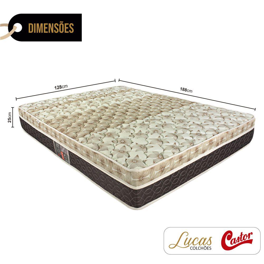 Colchão De Molas Ensacadas Viúva - Castor - Class Pocket Híbrido One Face 128cm